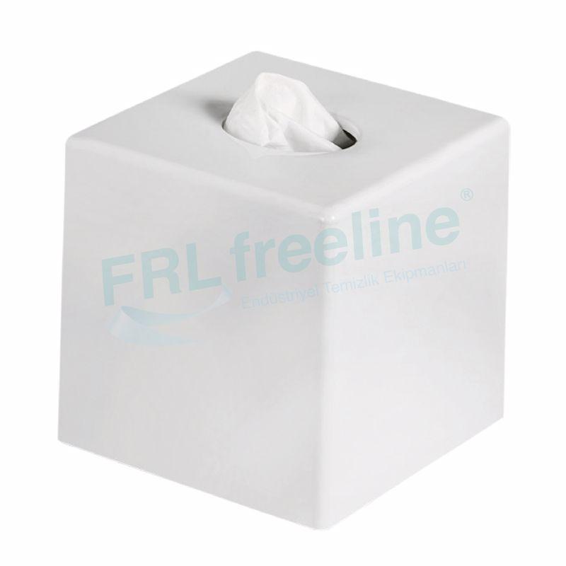 Butik Mendil Kutusu Dispenseri Beyaz