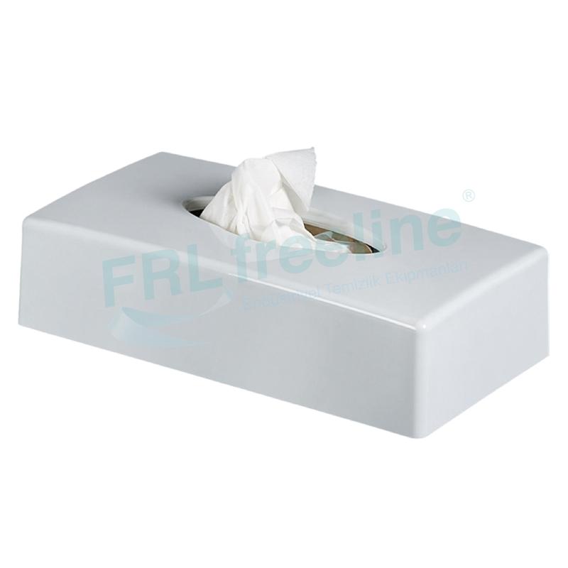 Kağıt Mendil Kutusu Dispenseri Beyaz