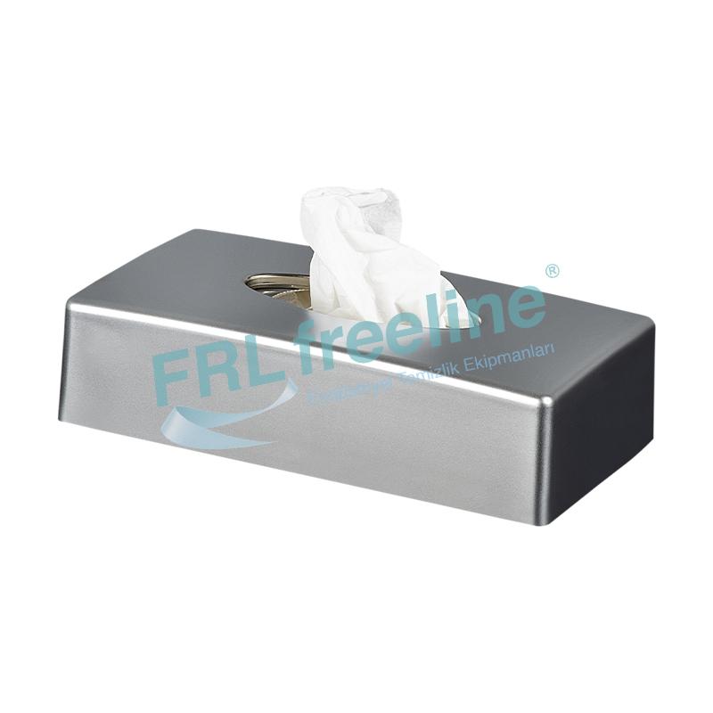 Kağıt Mendil Kutusu Dispenseri Saten Krom